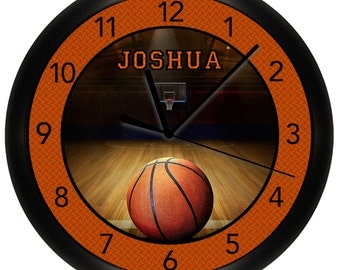 Personalized Basketball Wall Clock Sports Team 10 Inch Bedroom Decor