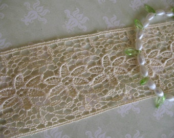 Vintage Crochet Ribbon Trim Cluny Lace - 2 yards