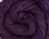 sw merino nylon high twist sock yarn TANZANITE hand dyed fingering weight 3.5oz 400 yards