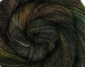 glitter sock yarn MEGA CITY ONE sw merino nylon stellina fingering weight 3.5oz 435 yards