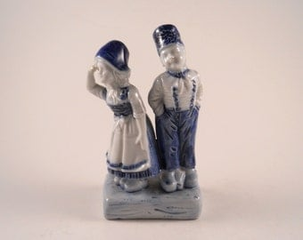 Vintage Delft Figurine Dutch Boy and Girl Made in Germany