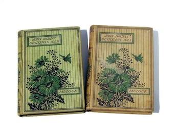 Vintage Novels: John Halifax Gentleman, Volumes I and II, Miss Mulock, Antique Books