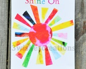 8 x 10 Whimsical Art Print Shine On