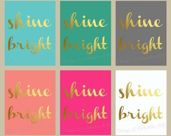 Shine Bright Gold Canvas Wall Art Custom Print