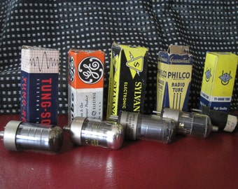Vintage Mixed Lot of Vacuum Tubes - TV, Radio, Amps, Transmitters