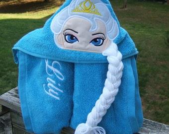 Winter Queen Hooded Towel