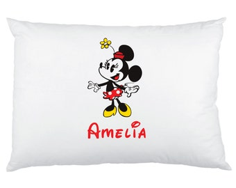 His and Hers Mickey Mouse and Minnie Mouse Pillowcases - Bride and Groom Pillow Cases - Disney Wedding - Disney Vacation