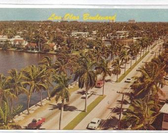 "Florida, Vintage Postcard, ""Las Olas Boulevard,""  1970s,  #697"