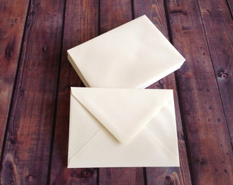 "A7.5 Outer Envelope (5.5""x7.5"") Natural White Texture - 25 quantity"