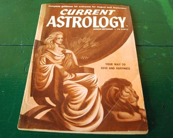 Leo Virgo Birthday Present, Vintage Astrology Magazine, August September 1950 Issue
