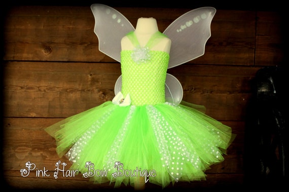 Adorable Toddler Halloween Costume , Fairy Tutu , Pixie cut dress with white fairy wings  18 months 2T 3T , The cutest little Halloween Tutu