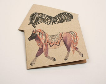 Set of Two Mini Notebooks - Horses