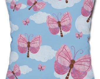 Fluttering Butterflies Throw Pillow