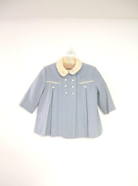 Vintage Baby Clothes 1950 S Light Blue And Ivory Wool