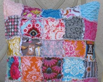 EURO sham - CUSTOM - rag quilt