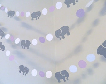 Elephant Baby Shower Decorations / Lavender U0026 Gray Elephant Nursery  Decoration / Elephant Banner / Purple