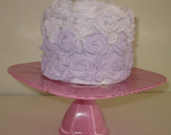 square Pink dessert stand/ tid bit plate stand/ cake stand