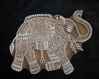 Big Elephant Indian block printing stamps/wooden block for printing/ paper and fabric printing stamp