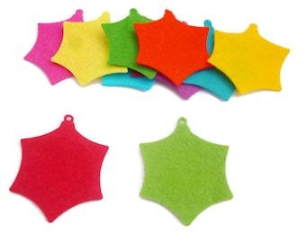 Christmas felt shapes die cut christmas ornament bauble geometric style 2