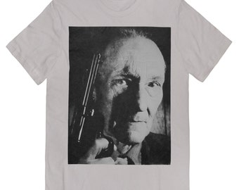 Beautiful WILLIAM S. BURROUGHS With old Colt .45 T Shirt