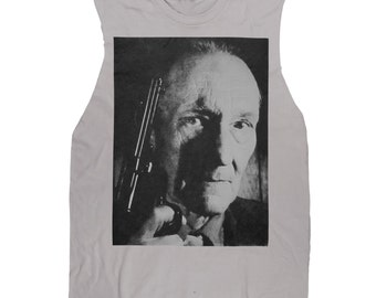 Beautiful WILLIAM S. BURROUGHS With old Colt .45 Sleeveless Tee