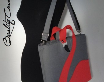 Ready to Ship  Laptop Bag - Briefcase and Messenger Laptop bag Fully Padded - 7 interior pockets - Waterproof lining