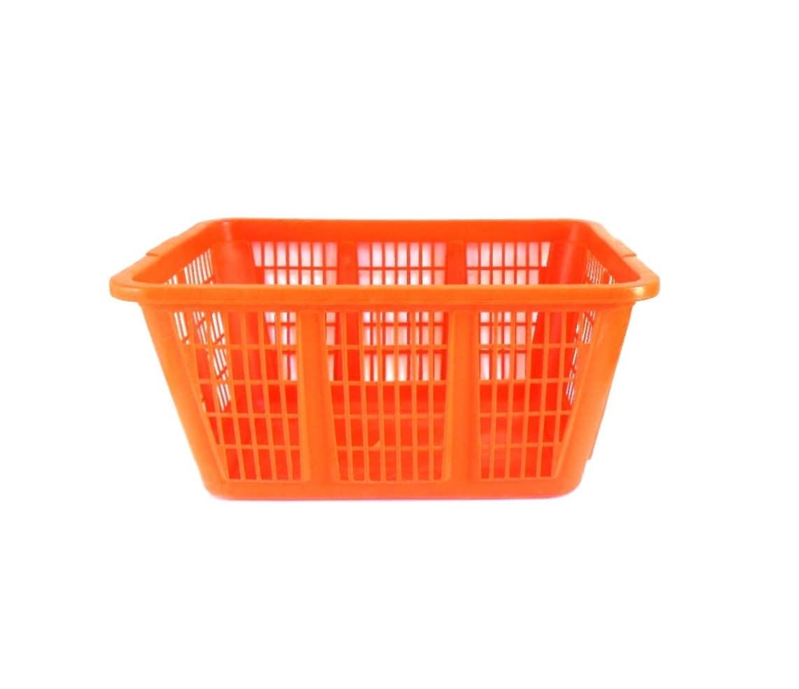 Rubbermaid Laundry Basket Plastic Clothes Hampers Orange1970s