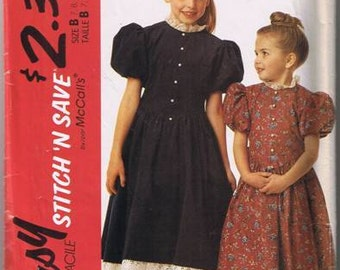 Stitch 'n Save by McCall's 5573 Girls Dress - Sz 7, 8, 10 - Dated 1991 - Cut on Size 10 - Complete