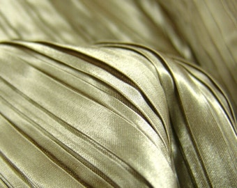 bright Matte Satin fabric color  accordion pleats wrinkle fabric for diy stage doll decorationby yard