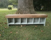 wooden bench 5'entry bench/tv stand/coffee table/bench/hallway/entryway bench/reclaimed/recycled