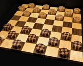 Premium Deluxe XL Checkers Set Jumbo Checkers Set Hardwood Checkers