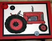 Red Tractor Card for Any Occasion  20150115