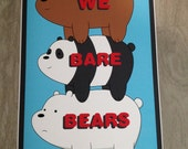 We Bare Bears poster print