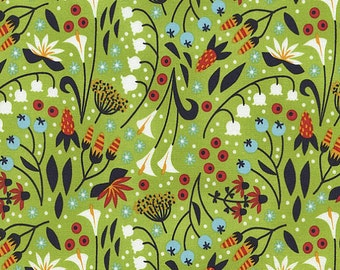 Modern Calico - Green Floral from Timeless Treasures
