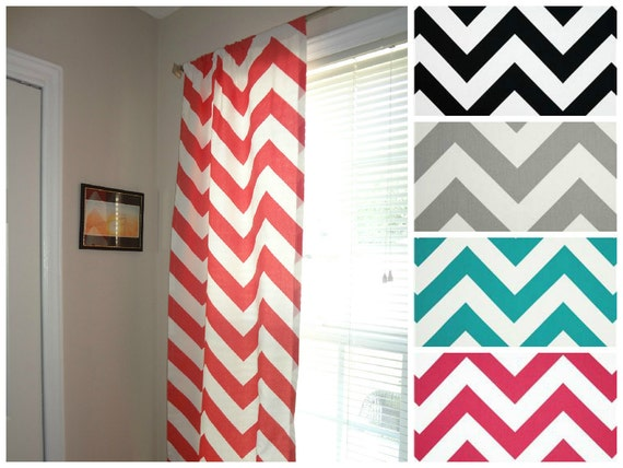 items similar to curtain panels zippy chevron large print