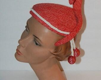 Vintage 50s Hat Futuristic Mad Hatter Style 1950s Elegance Fashion Statement