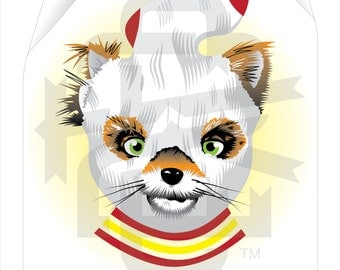 Fantastic mr fox mask etsy for Fantastic mr fox mask template