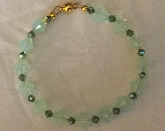 Shades of Green Swarovski Bicones Bracelet