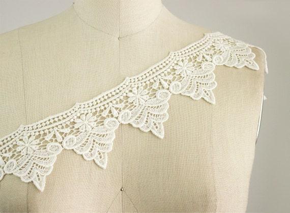 Felicity Venice Lace Ivory white Victorian Princess Style Lace Trim / Renaissance / Vintage Inspired