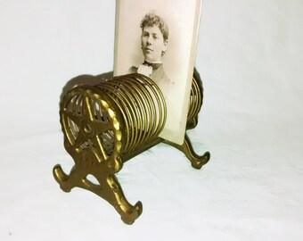 Antique Star Business Card Holder , Photo , Desk Accessory , Mercantile , Shop