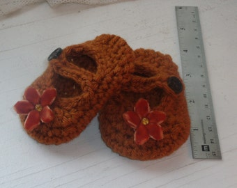 Baby Mary Janes - Soft Crib Shoes, Newborn to 3 Months  - Great Shower Gift! For Babies!  Can Make Any Color You Need...