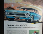 Vintage Magazine Original Promo Ad 1960's Oldsmobile  F 85 Cutlass Sports Coupe - Great for Framing