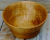 Wooden Centerpiece Bowl - Curly Maple - Rustic Bowl - Hand Carved Bowl  - Small Bowl - 5 1/4 Inch Diameter