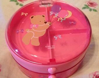 Vintage Sanrio Tweedle Dee Dee Bear Trinket Box
