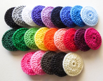 Nylon Pot Scrubber - Set of 50 - Party Favors - Choose Your Colors - Crochet Dish Scrubbies - Made to Order
