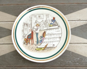 Vintage Opera Plate, The Barber of Seville Rossini, French Opera Plate