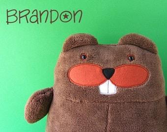 Brandon Beaver Stuffed Animal Pattern (digital PDF pattern)
