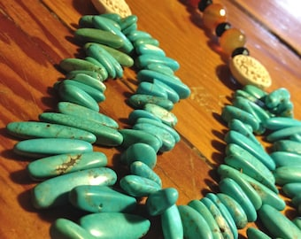 Double Stranded Gemstone Necklace