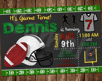 Football Printable Invitation (FO01)