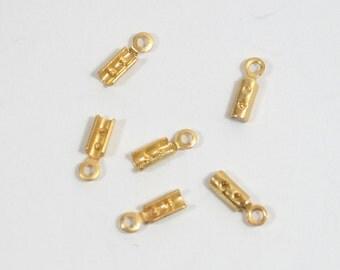 2mm Matte Gold Crimps - Choose Your Quantity